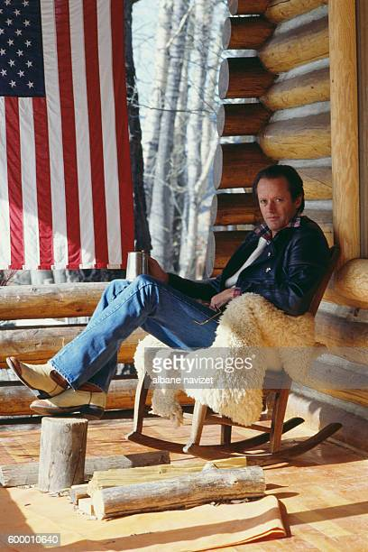 American actor director screenwriter and producer Peter Fonda at home in Montana