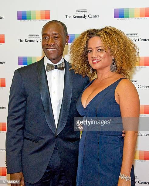 American actor Don Cheadle and his wife Bridgid Coulter arrive for the formal Artist's Dinner honoring the recipients of the 39th Annual Kennedy...