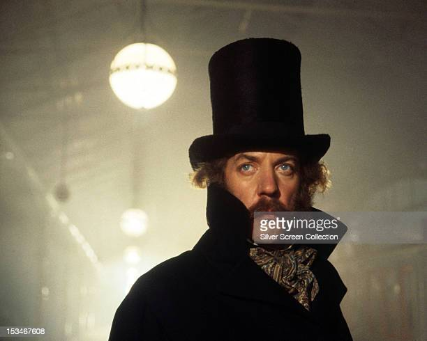 American actor Donald Sutherland as Agar in 'The First Great Train Robbery' directed by Michael Crichton 1979