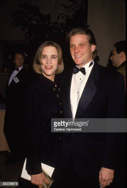American actor Doug Savant with his wife, Dawn, at a formal event, 1990s.