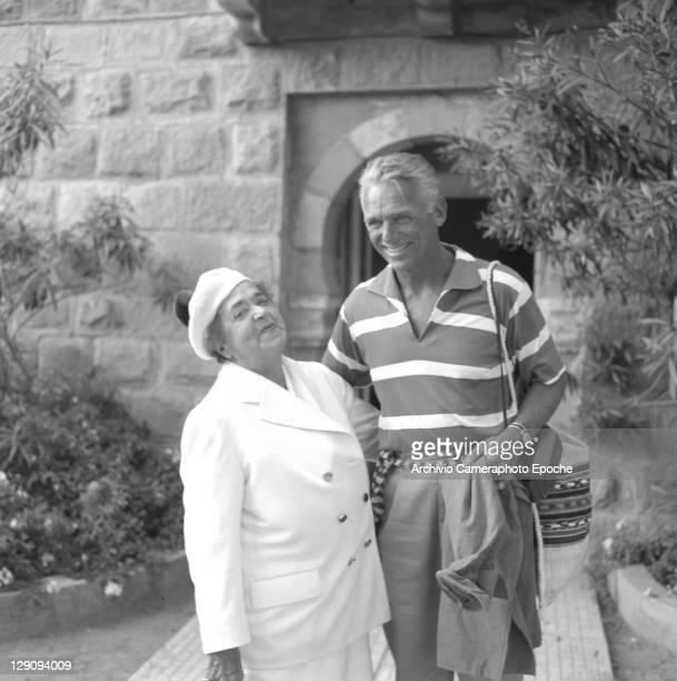 American actor Douglas Fairbanks Jr with Elsa Maxwell Venice 1958
