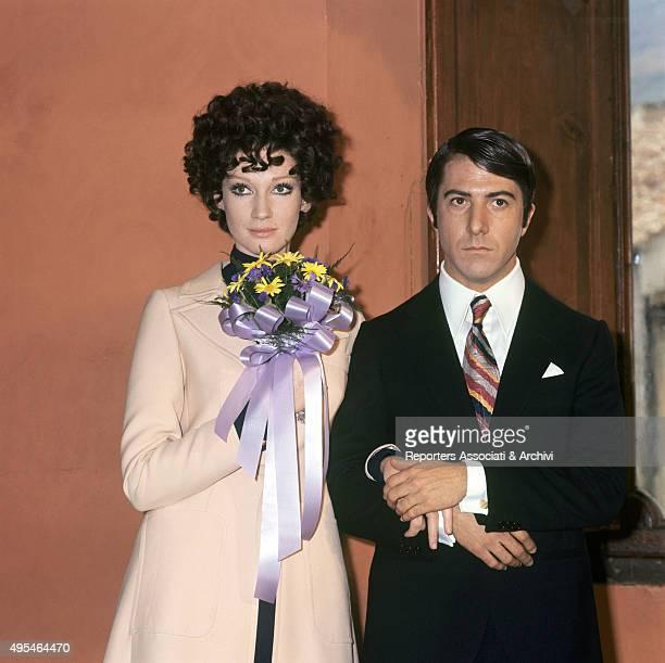 American actor Dustin Hoffman marrying Italian actress Carla Gravina in the film Alfredo Alfredo 1972