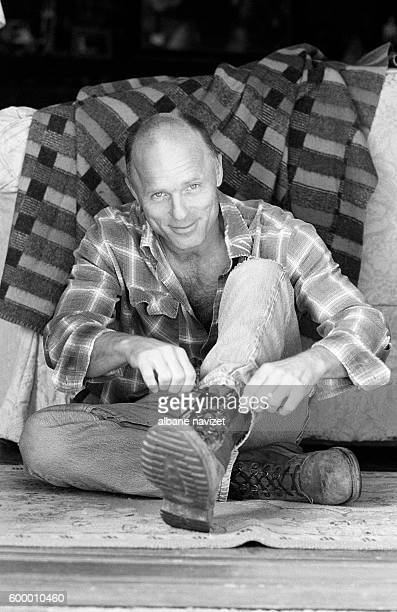 American actor Ed Harris at home in Malibu