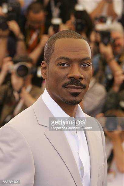 American actor Eddie Murphy attends a photocall for Andrew Adamson Kelly Asbury and Conrad Vernon's movie Shrek 2 in competition at the 57th Cannes...