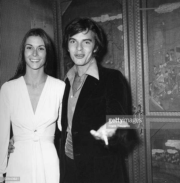 American actor Edward Albert and his girlfriend Kate Jackson attend a party for writer Mary Loos October 1974 Edward is Miss Loos' godson
