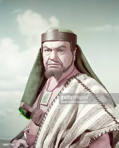 American actor Edward G Robinson as Dathan in a publicity still for 'The Ten Commandments' directed by Cecil B DeMille 1956