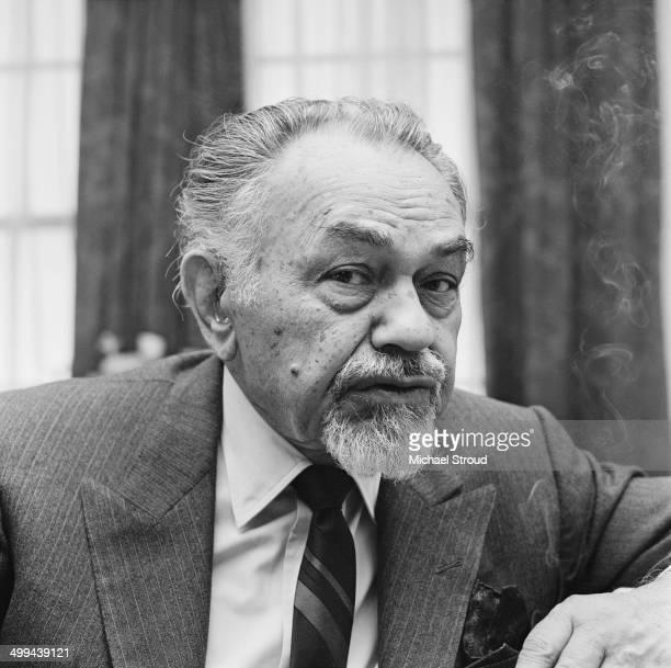 American actor Edward G Robinson London 4th April 1969