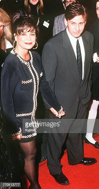 American actor Emelio Estevez with singer and songwriter Paula Abdul at the Los Angeles premiere of his film 'Freejack' 16th January 1992