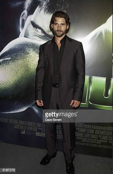 American actor Eric Bana arrives at the UK premiere of the film Hulk held at the Empire Cinema Leicestrer Square on July 3 2003 in London