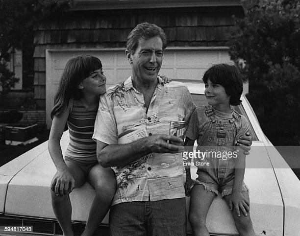 American actor Farley Granger with two youngsters circa 1970