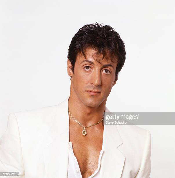 American actor, film director and screenwriter Sylvester Stallone as Rocky Balboa in a publicity portrait for the film 'Rocky IV,' 1985.