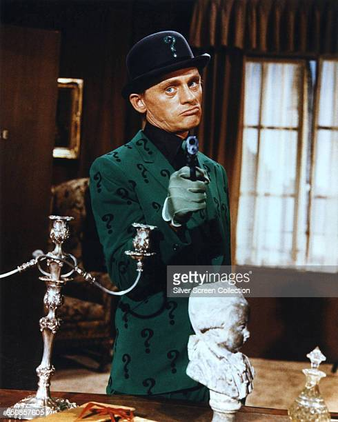 American actor Frank Gorshin as The Riddler in the television series 'Batman' or the 1966 film 'Batman The Movie'