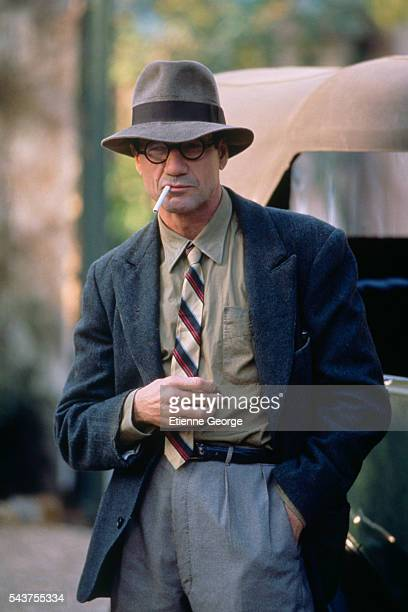 American actor Fred Ward on the set of the film 'Henry June' directed by Philip Kaufman and based on French writer Anais Nin's novel by the same title