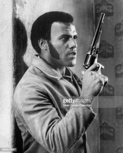 American actor Fred Williamson in a scene from one of his films circa 1975