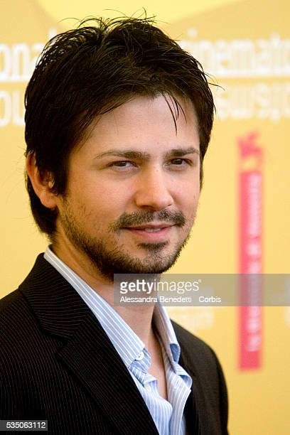 American actor Freddy Rodriguez at the 2006 Venice Film Festival photo call for Bobby