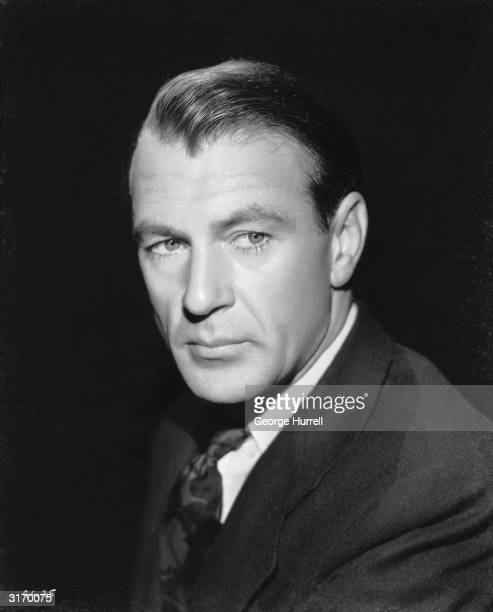American actor Gary Cooper , who was given an honourary award by the Academy shortly before his death.