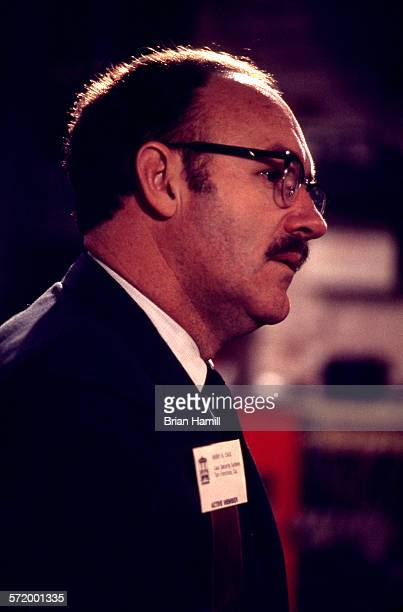American actor Gene Hackman on the set of the film 'The Conversation' 1978