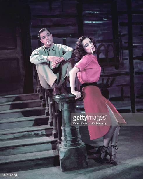 American actor Gene Kelly and Russian actress Tamara Toumanova star as the Marine and the Streetwalker in 'Invitation to the Dance' 1956