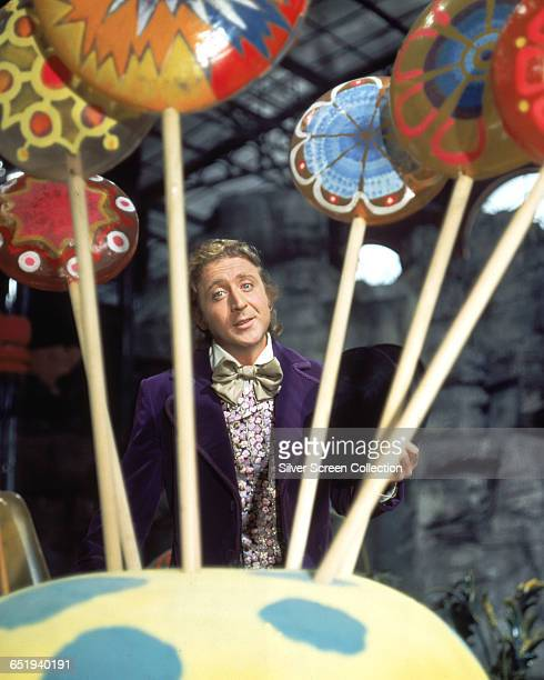 Actor Gene Wilder as Willy Wonka on the set of the fantasy film 'Willy Wonka the Chocolate Factory' based on the book by Roald Dahl 1971