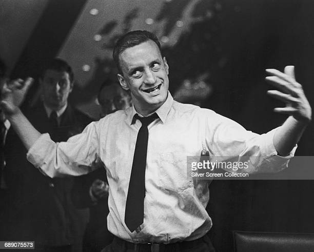 American actor George C. Scott as General 'Buck' Turgidson in the film 'Dr. Strangelove or: How I Learned to Stop Worrying and Love the Bomb', 1964.