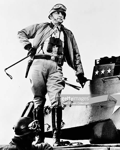 American actor George C. Scott as US General George S. Patton in the film 'Patton', 1970.