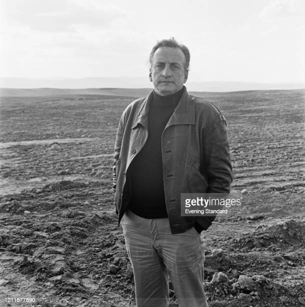 American actor George C Scott stands on the edge of a ploughed field on 15th February 1971. George C. Scott recently played the role of Edward...