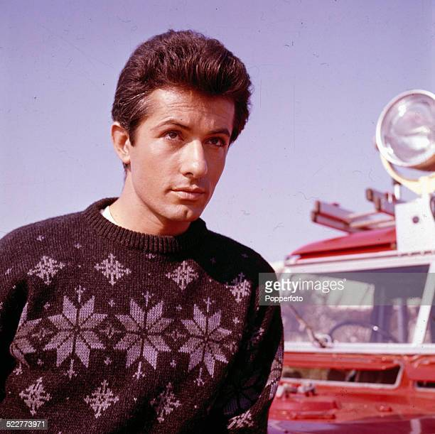 American actor George Chakiris posed on location during production of the film '633 Squadron' in 1963.