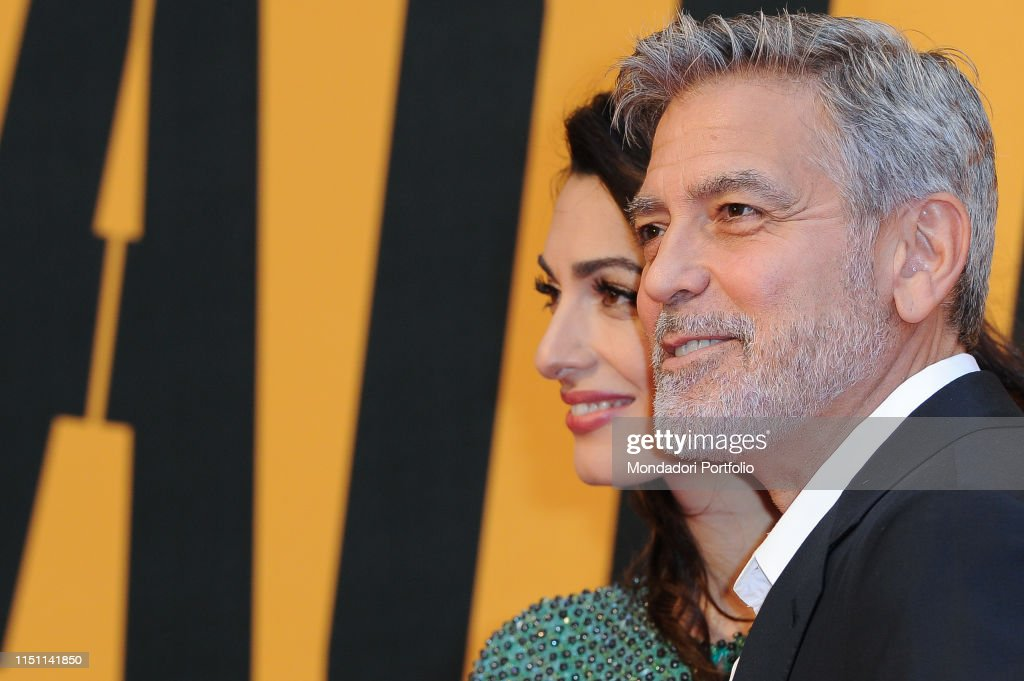 American actor George Clooney and his wife, Lebanese lawyer