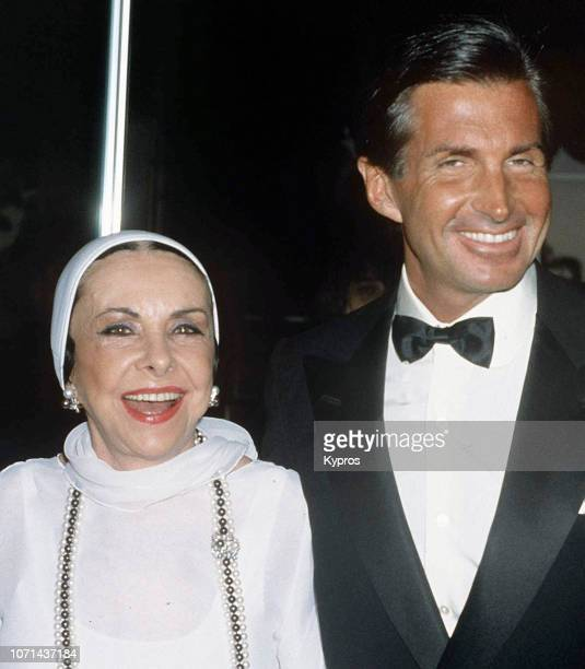 American actor George Hamilton and his mother socialite Ann Stevens Hamilton attends the Ryan's Place Restaurant Grand Opening in Beverly Hills...