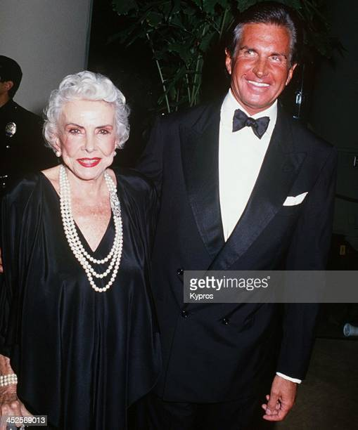 American actor George Hamilton with his mother socialite Ann Stevens Hamilton circa 1992