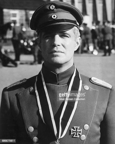 American actor George Peppard as Lieutenant Bruno Stachel of the Luftstreitkräfte in the film 'The Blue Max' 1966