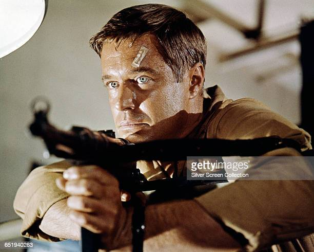 American actor George Peppard as Lt John Curtis in the action film 'Operation Crossbow' 1965