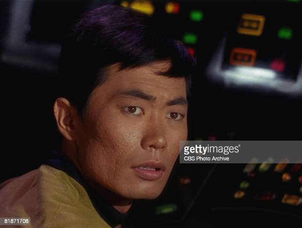 American actor George Takei appears as Sulu in a scene from 'The Man Trap' the premiere episode of 'Star Trek' which aired on September 8 1966