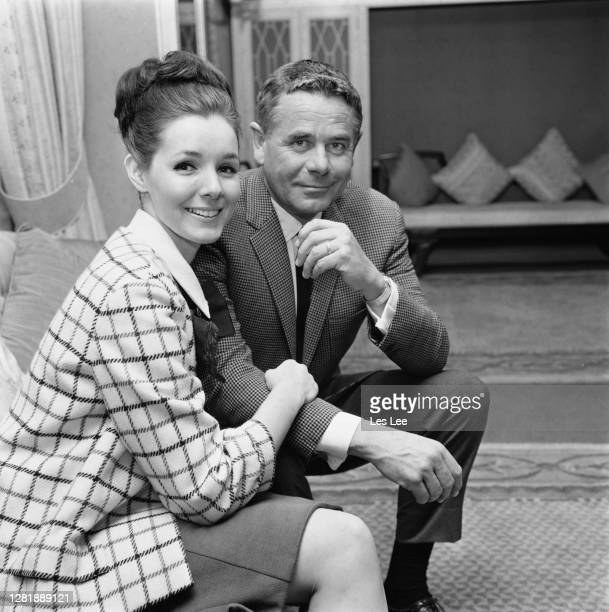American actor Glenn Ford with his second wife, actress Kathryn Hays, 20th April 1966.