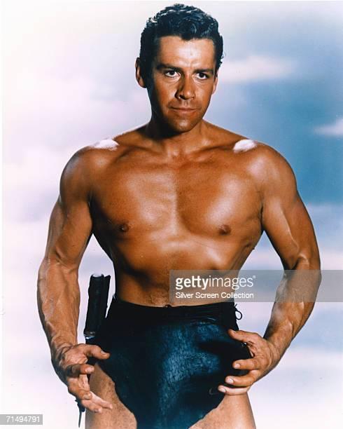 American actor Gordon Scott as Tarzan in 'Tarzan And The Lost Safari' directed by H Bruce Humberstone 1957