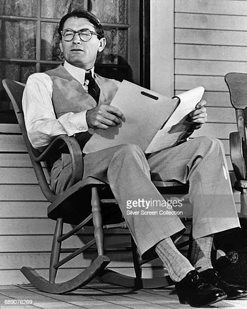 American actor Gregory Peck as Atticus Finch on the set of the film 'To Kill a Mockingbird' 1962