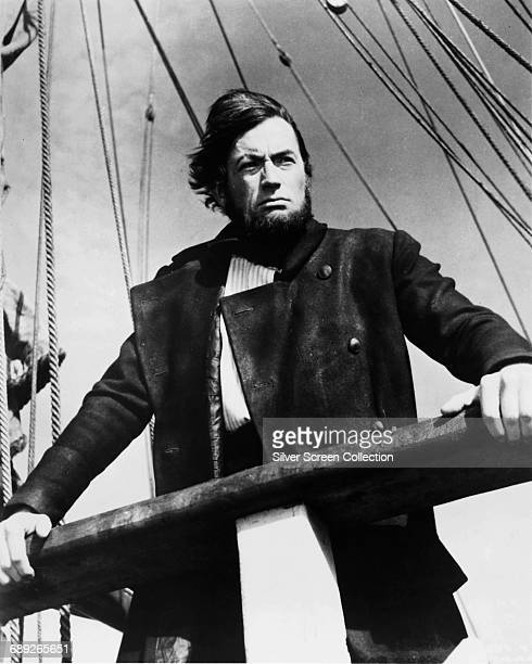 American actor Gregory Peck as Captain Ahab in the film 'Moby Dick', based on the novel by Herman Melville, 1956.