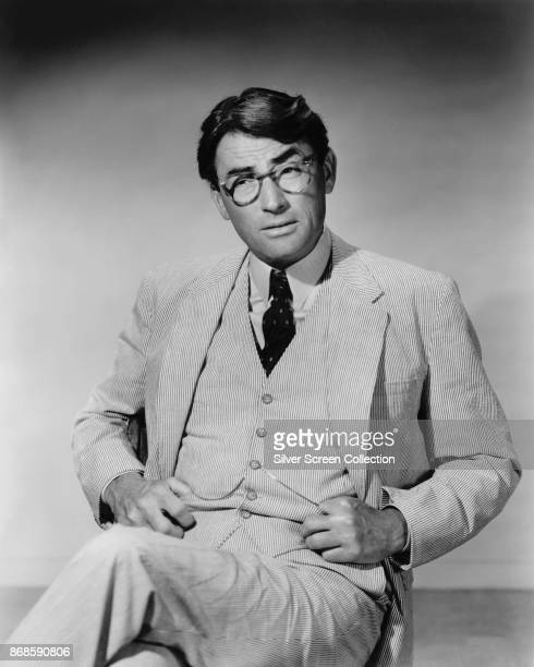 American actor Gregory Peck in a scene from 'To Kill a Mockingbird' , 1962.