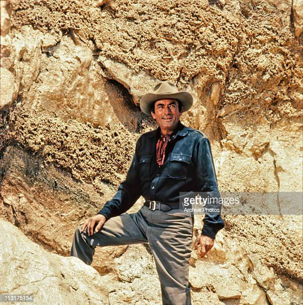 American actor Gregory Peck in the film 'Mackenna's Gold' in 1969
