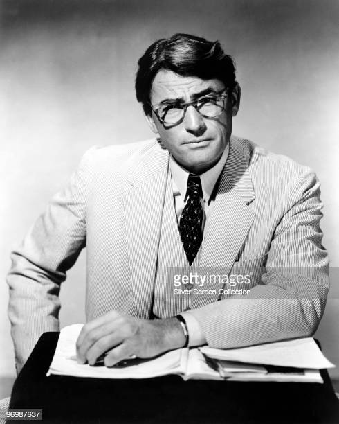 American actor Gregory Peck stars as principled lawyer Atticus Finch in 'To Kill a Mockingbird' 1962