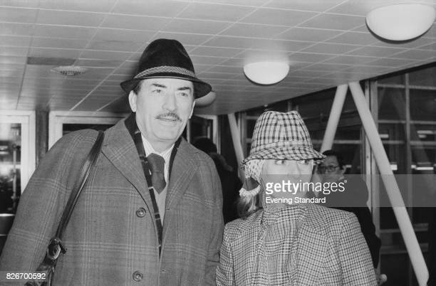 American actor Gregory Peck with his wife Veronique Passani , 7th February 1978.