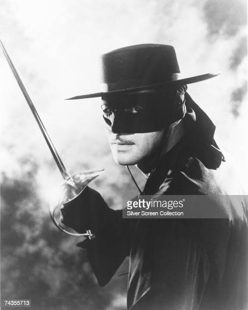 American actor Guy Williams as Don Diego de la Vega/Zorro in the TV series 'Zorro' 1957