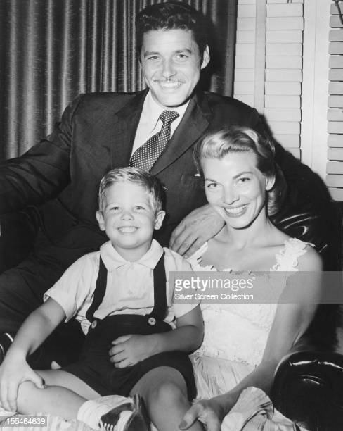 American actor Guy Williams with his wife Janice Cooper and their son Steven Catalano circa 1957