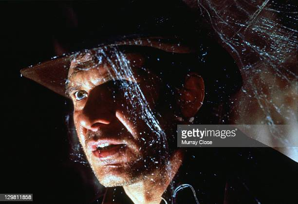 American actor Harrison Ford as the eponymous archaeologist in a scene from the film 'Indiana Jones and the Last Crusade' 1989