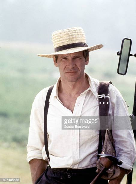 American actor Harrison Ford on the set of Witness directed by Peter Weir