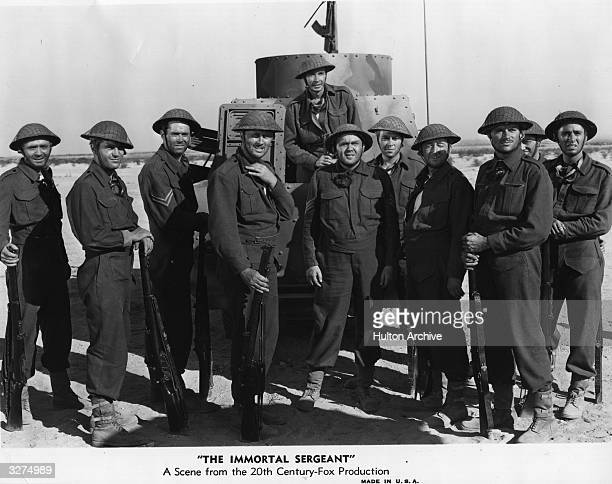 American actor Henry Fonda and character actor Thomas Mitchell in a scene from the film 'The Immortal Sergeant' directed by John M Stahl for 20th...