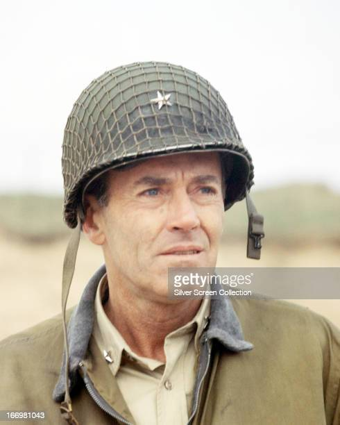 American actor Henry Fonda as Lt Col Kiley in 'Battle of the Bulge' directed by Ken Annakin 1965