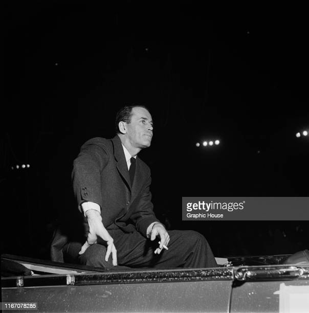 American actor Henry Fonda at a benefit performance of the Ringling Brothers Barnum and Bailey Circus in New York City, 31st March 1954.