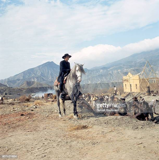 American actor Henry Fonda on the set of C'era Una Volta Il West written directed and produced by Sergio Leone