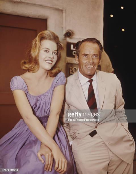American actor Henry Fonda pictured with his daughter Jane Fonda in the United States in 1963